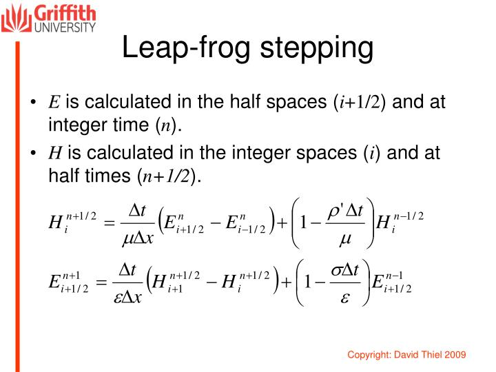 Leap-frog stepping