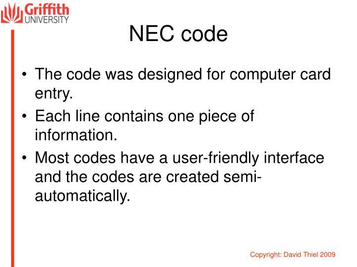 NEC code