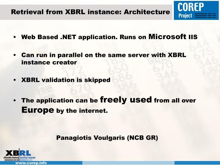 Retrieval from XBRL instance: