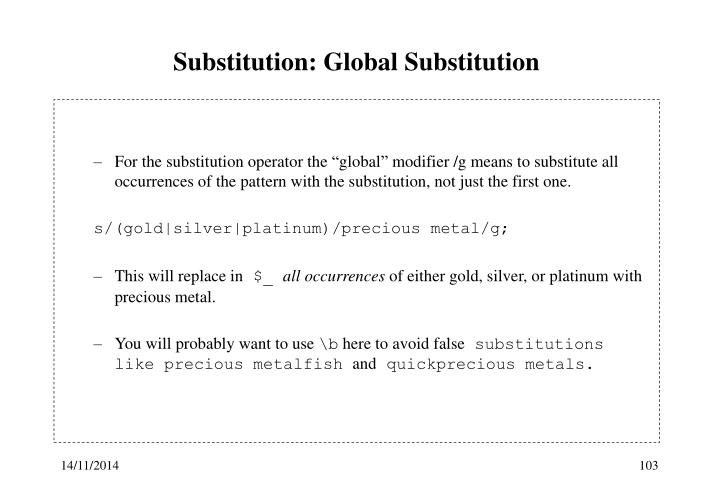 Substitution: Global Substitution