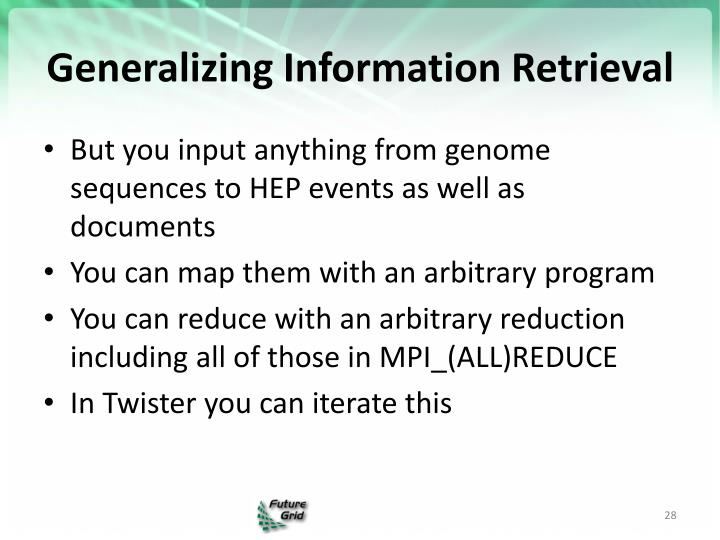 Generalizing Information Retrieval