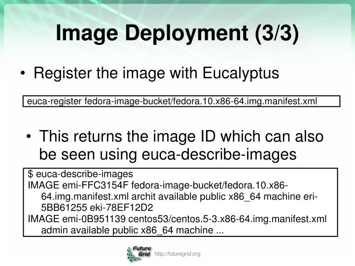 Register the image with Eucalyptus