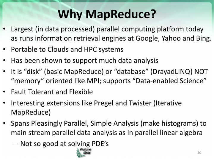 Why MapReduce?