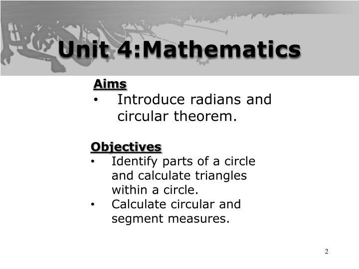 Unit 4:Mathematics