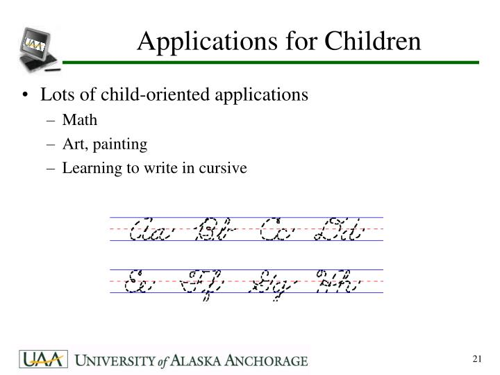 Applications for Children