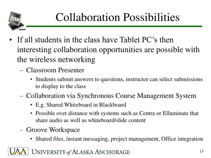 Collaboration Possibilities