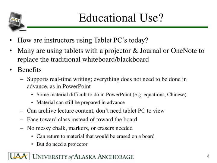 Educational Use?