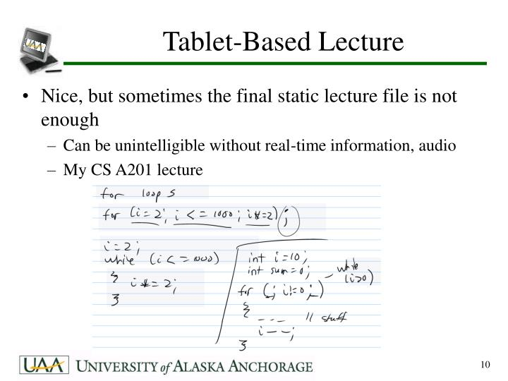 Tablet-Based Lecture