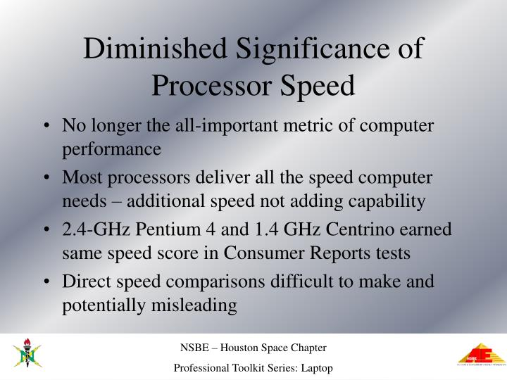 Diminished Significance of Processor Speed