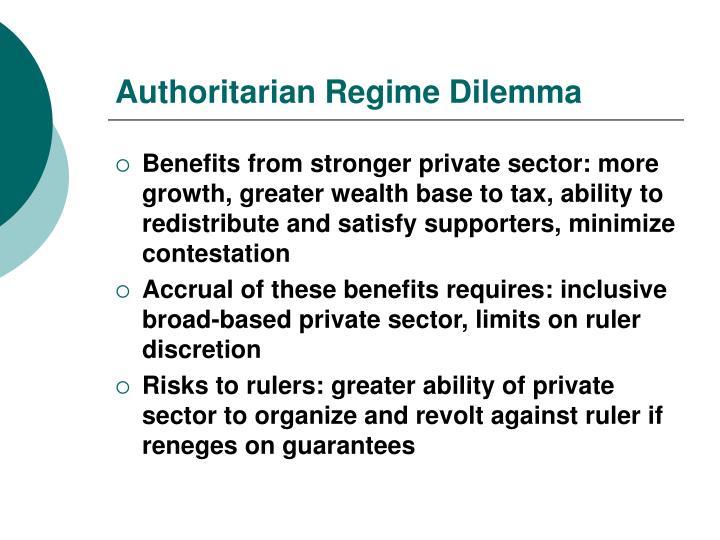 Authoritarian Regime Dilemma