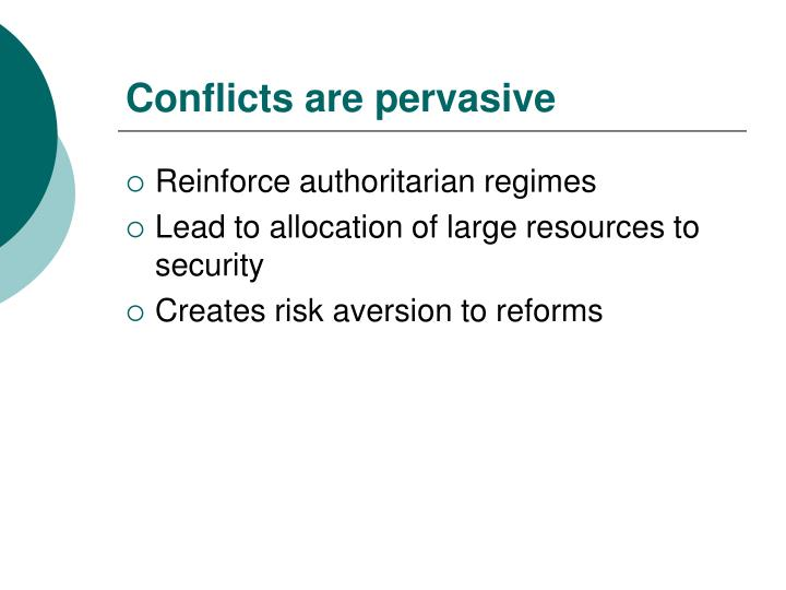 Conflicts are pervasive