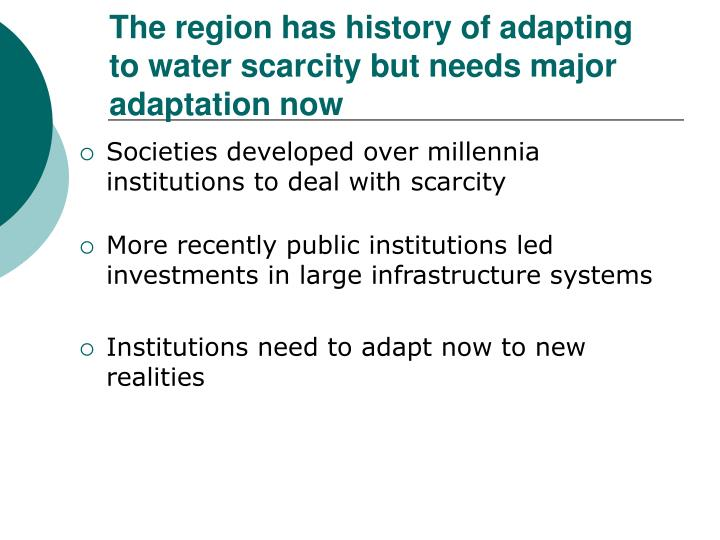 Societies developed over millennia institutions to deal with scarcity