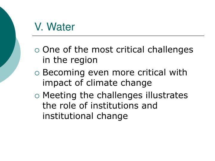 V. Water