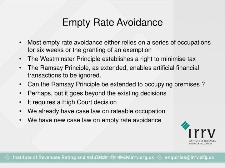 Empty Rate Avoidance