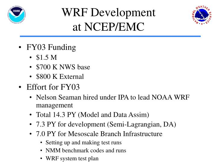 WRF Development