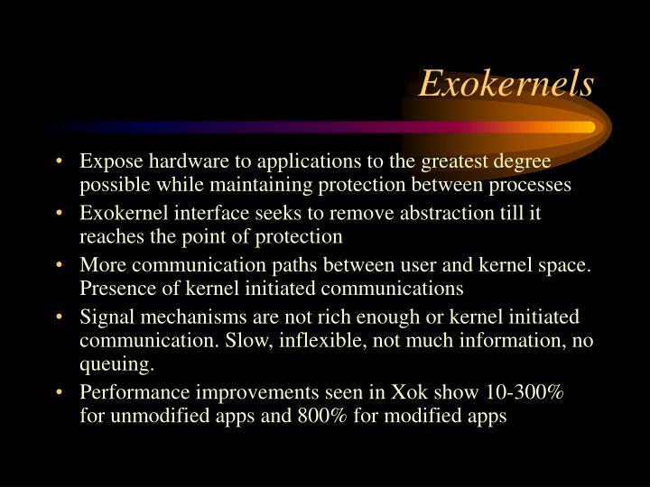 Exokernels