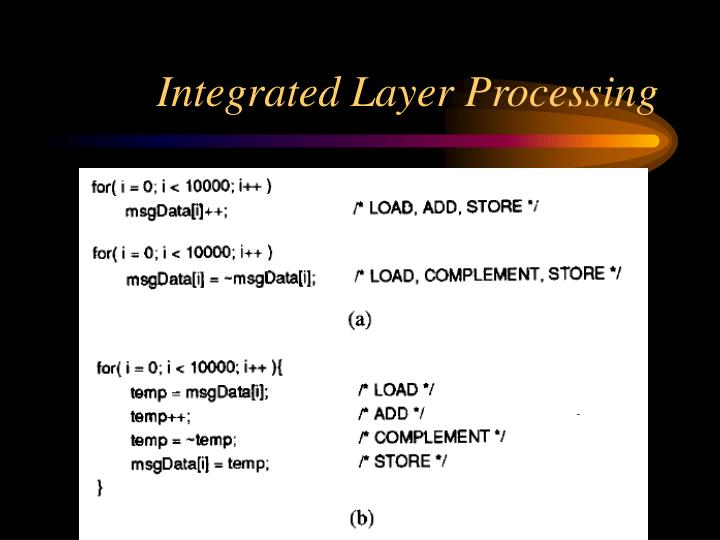 Integrated Layer Processing