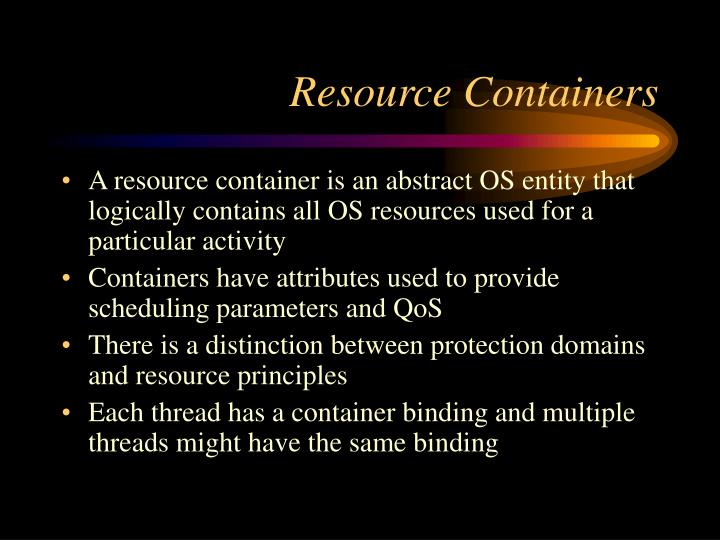 Resource Containers