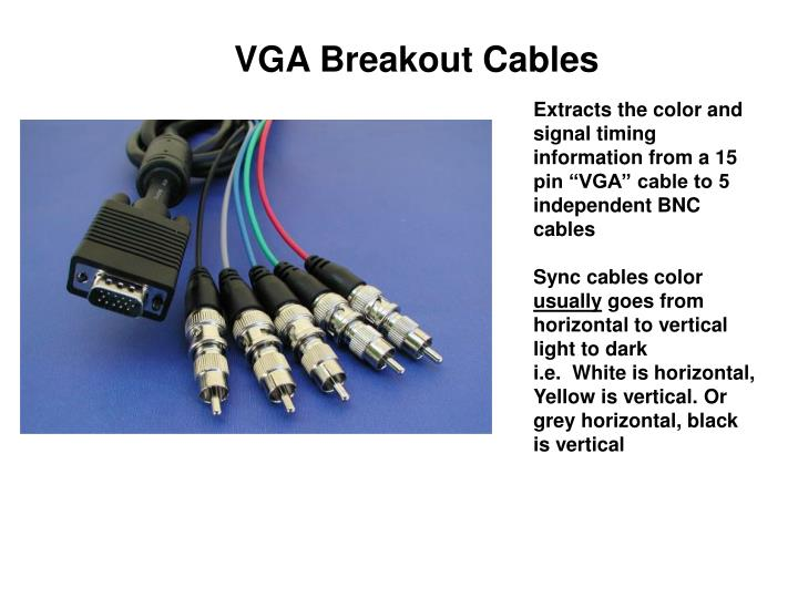 VGA Breakout Cables