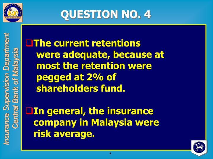 QUESTION NO. 4