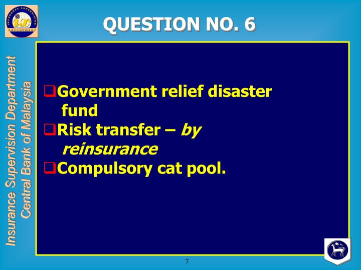 QUESTION NO. 6