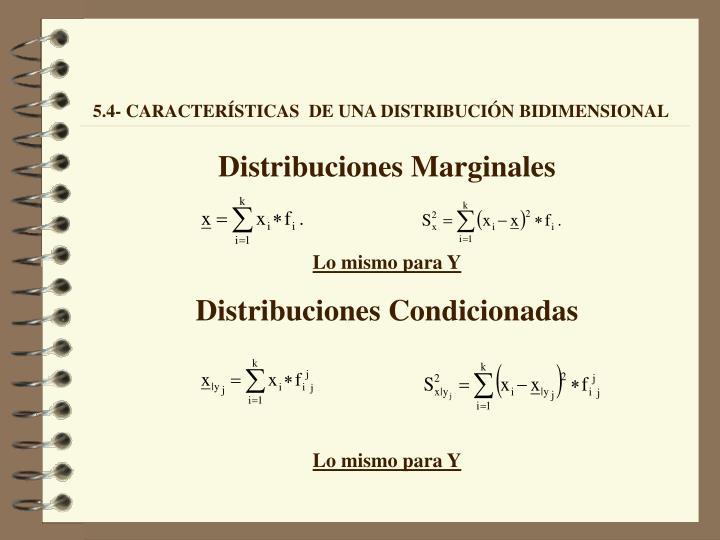 Distribuciones Marginales