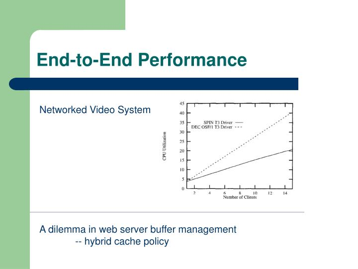 End-to-End Performance
