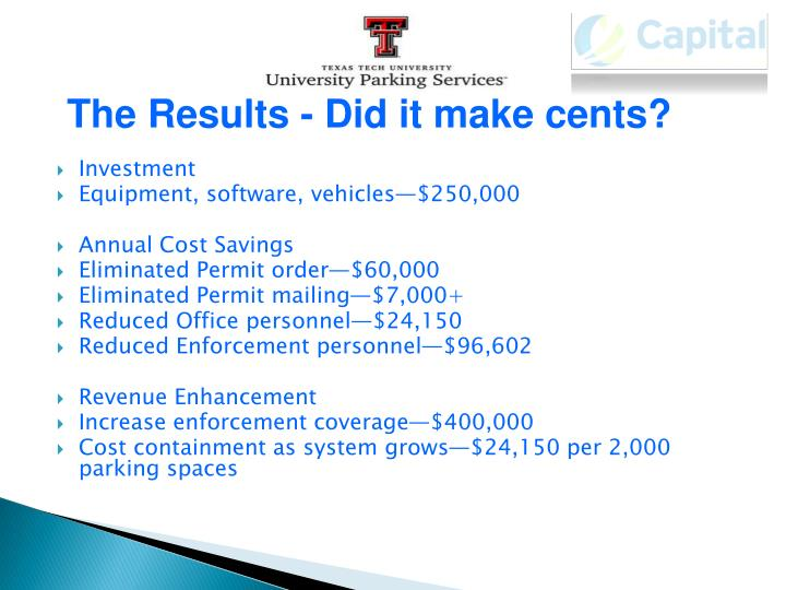 The Results - Did it make cents?