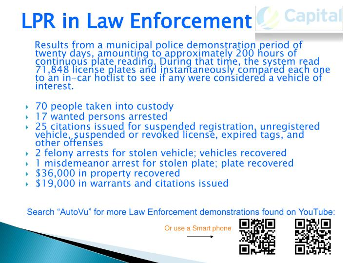 LPR in Law Enforcement