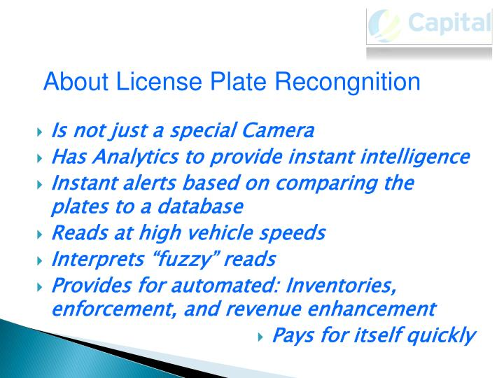 About License Plate Recongnition
