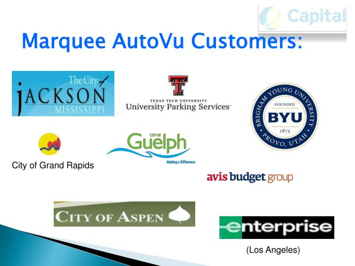 Marquee AutoVu Customers: