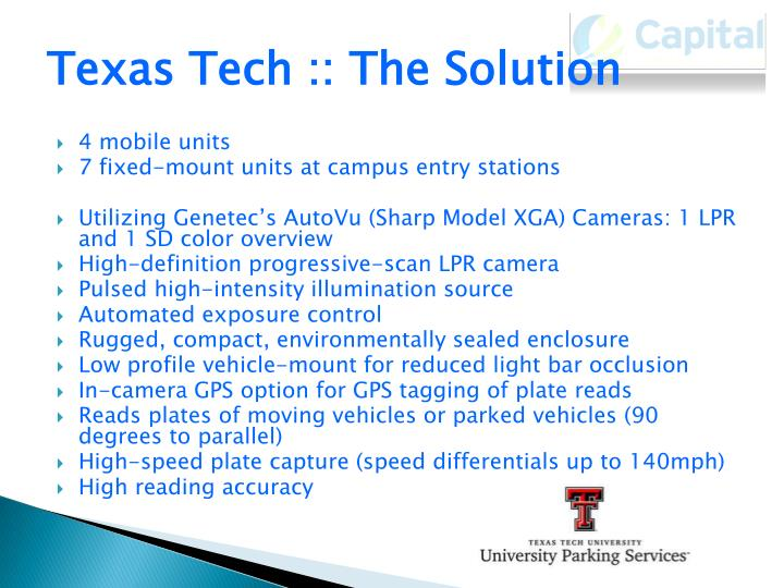 Texas Tech :: The Solution
