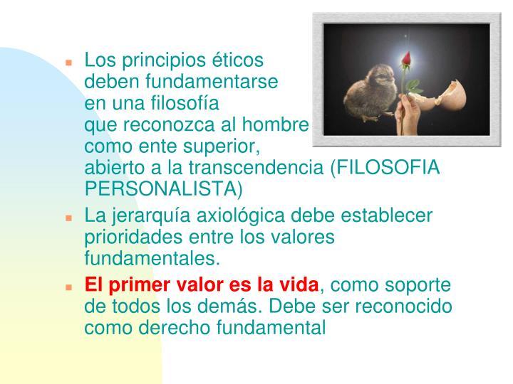 Los principios éticos