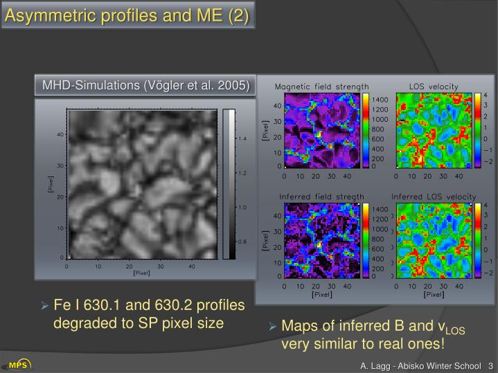 Asymmetric profiles and ME (2)