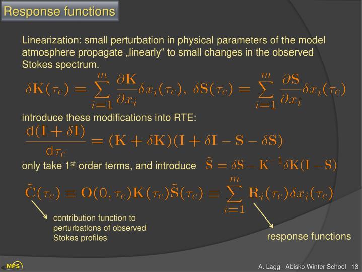 Response functions