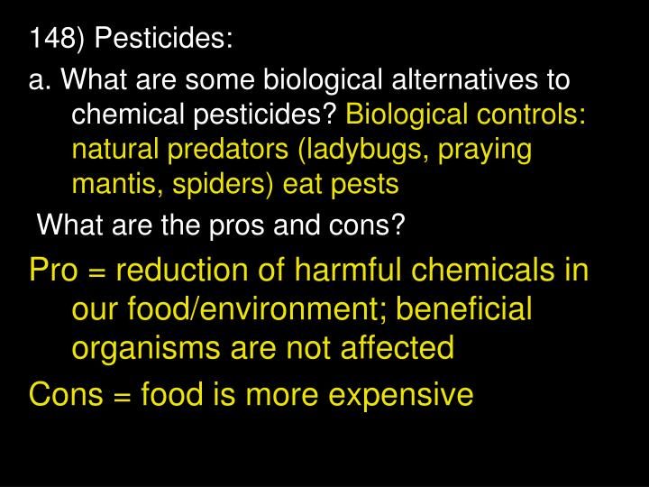 148) Pesticides: