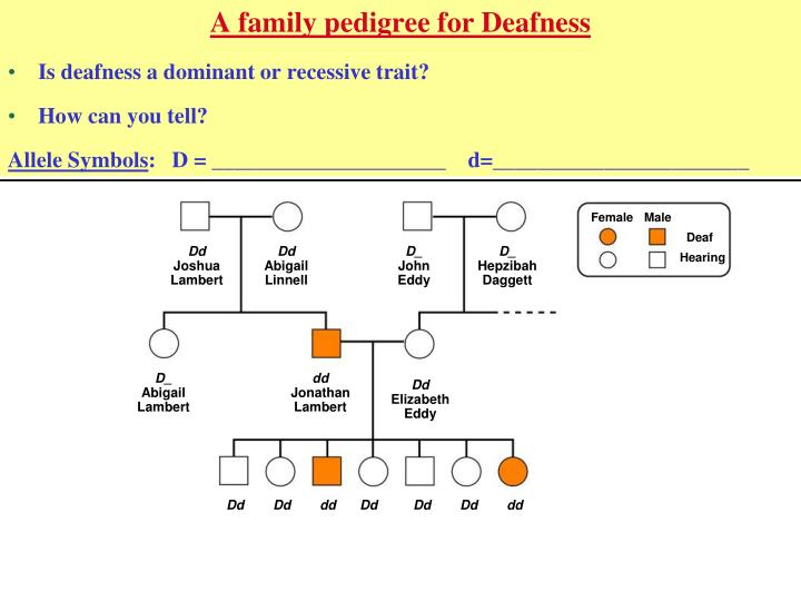 A family pedigree for Deafness