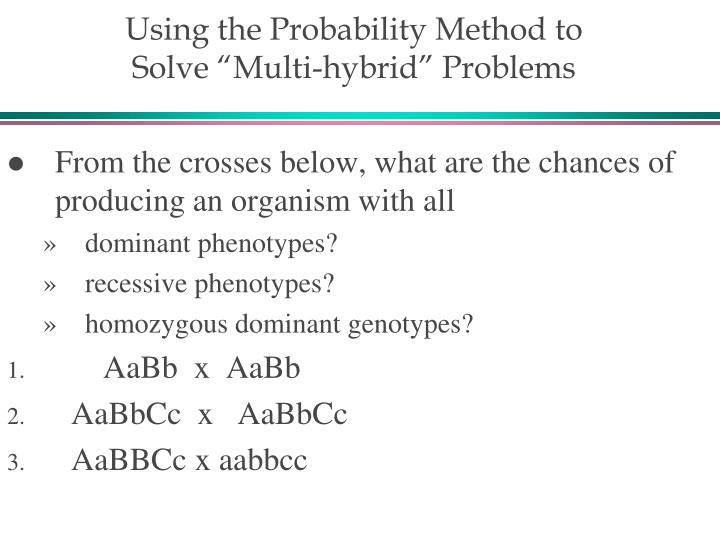 Using the Probability Method to
