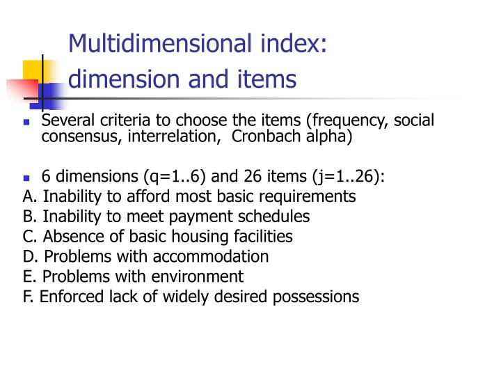 Multidimensional index: