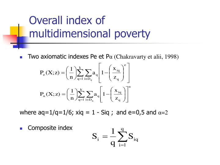 Overall index of