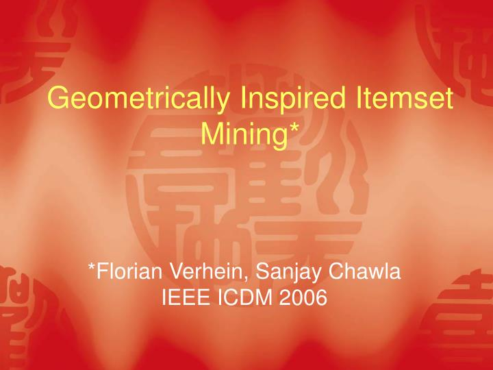 Geometrically inspired itemset mining