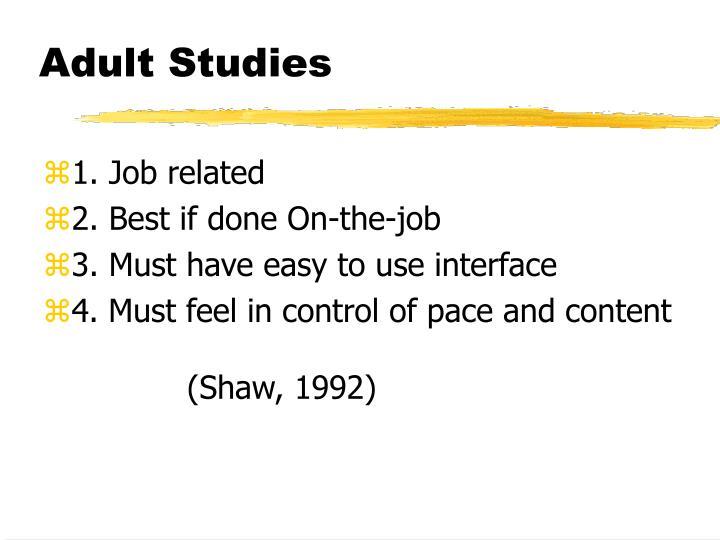Adult Studies