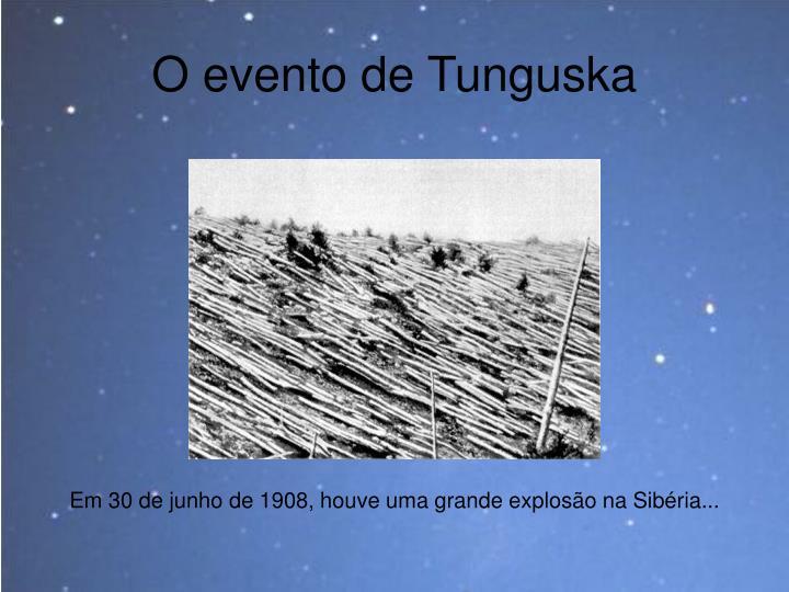 O evento de Tunguska