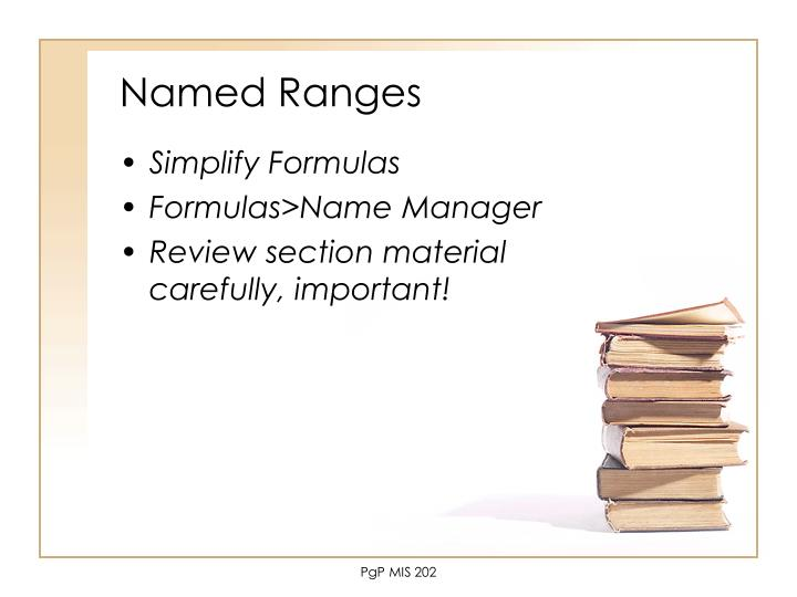 Named Ranges