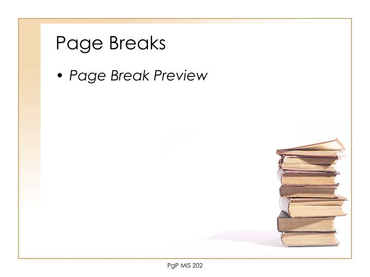 Page Breaks