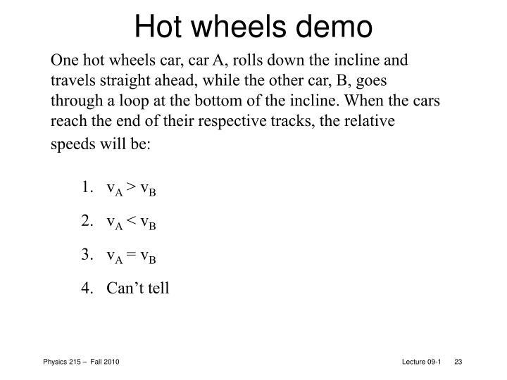 Hot wheels demo