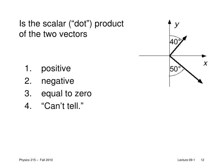 """Is the scalar (""""dot"""") product of the two vectors"""