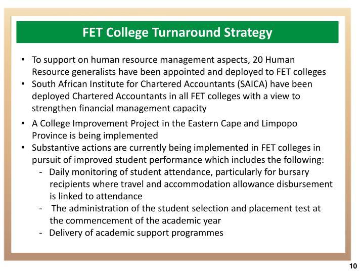 FET College Turnaround Strategy