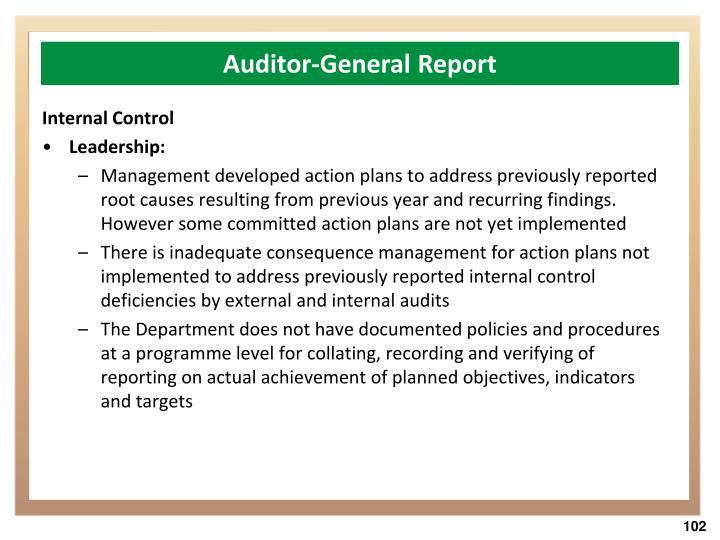 Auditor-General Report