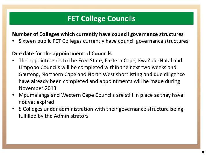 FET College Councils